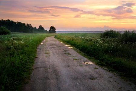 田舎の1本道