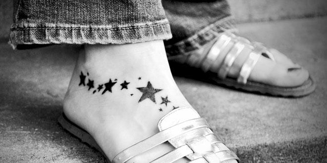 脚のタトゥー