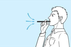 プルームテックはゆっくり長く吸う