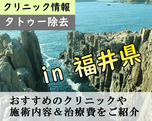 【最新】福井県でタトゥー除去できる安くて痛くないクリニックまとめ