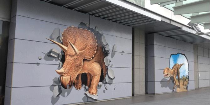 福井県-福井駅の恐竜