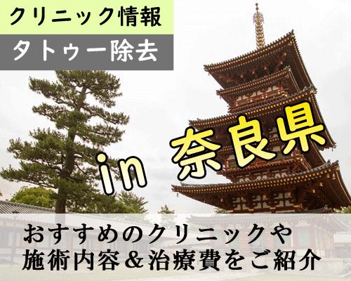【最新】奈良県でタトゥー除去できる安くて痛くないクリニックまとめ